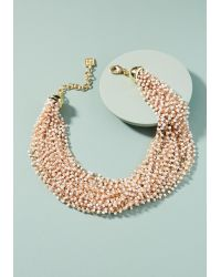 Anthropologie | White Blair Collar Necklace | Lyst