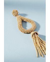 Anthropologie - Metallic Jasmine Tassel Drop Earrings - Lyst