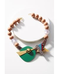 Katerina Psoma - Green Memphis Geometric Collar Necklace - Lyst