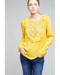 Plenty by Tracy Reese - Sedona Ruffled Blouse, Yellow - Lyst
