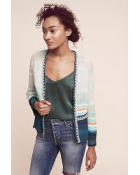 Blank | Yasmin Striped Jacket, Blue | Lyst
