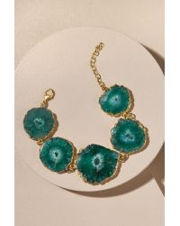Anthropologie | Green Druzy Stone Necklace | Lyst