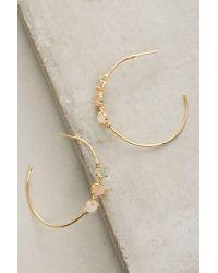 Anthropologie | Metallic Adorned Hoop Earrings | Lyst