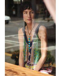 Lena Bernard - Blue Gemline Lariat Necklace - Lyst