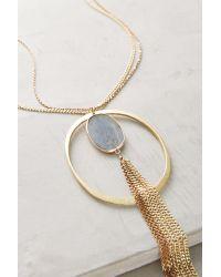 Anthropologie - Metallic Verena Pendant Necklace - Lyst