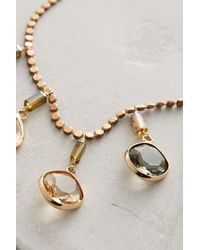 Anthropologie - Metallic Ombre Droplet Necklace - Lyst