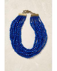 Anthropologie | Blue Dandelot Beaded Necklace | Lyst