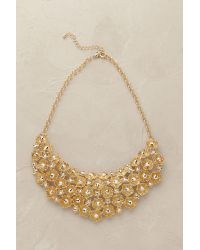 Anthropologie | Metallic Amalfi Flower Necklace | Lyst