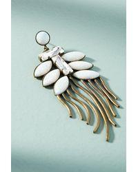 Lionette | White Tahiti Snow Fern Drop Earrings | Lyst