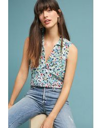 fa625afad7965d Anthropologie Colloquial Sleeveless Blouse in Blue - Lyst
