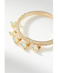 Anthropologie - Metallic Dangling Opal Ring - Lyst