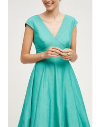 Peter Som - Blue Paimpont Silk Dress - Lyst