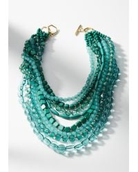 Anthropologie   Green Piper Layered Necklace   Lyst