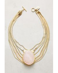 Lena Bernard | Pink Seastone Layered Necklace | Lyst