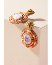 Anthropologie | Red Lera Drop Earrings | Lyst