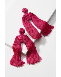 Sachin & Babi - Pink Fleur Round Silk Drop Earrings - Lyst