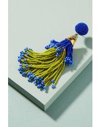 Suzanna Dai   Multicolor Beaded Double Tassel Drop Earrings   Lyst