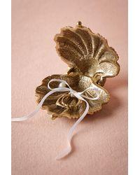 Anthropologie | Metallic Gilded Seashell Ring Holder | Lyst