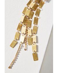 Serefina - Metallic Square Cascade Drop Earrings - Lyst