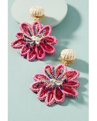 Mercedes Salazar - Pink Woven Seastar Drop Earrings - Lyst