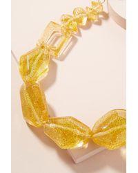 Anthropologie - Yellow Adona Glitter-gemstone Necklace - Lyst
