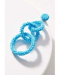 Anthropologie - Blue Lyla Beaded Drop Earrings - Lyst