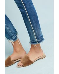 AMO - Blue Babe High-rise Straight Cropped Jeans - Lyst