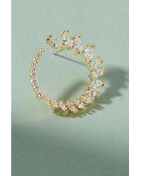 Serefina - Green Saphira Hooped Post Earrings - Lyst