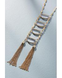 Anthropologie - Blue Cadence Ladder Necklace - Lyst