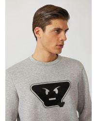 Emporio Armani - Gray Sweatshirt for Men - Lyst