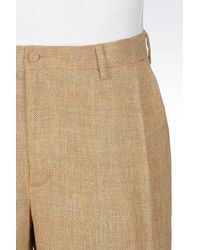 Emporio Armani - Yellow Pant for Men - Lyst