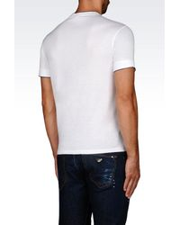 Emporio Armani - White Short-sleeve T-shirt for Men - Lyst