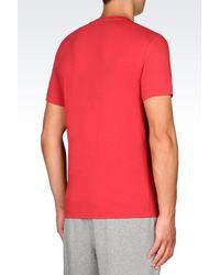 EA7 - Metallic Short Sleeved T-shirt for Men - Lyst