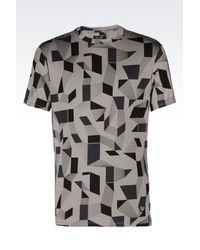 Armani Jeans   Gray Print T-shirt for Men   Lyst