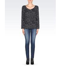 Armani Jeans - Black Blouse - Lyst