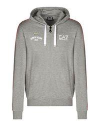 EA7 | Gray Hooded Sweatshirt for Men | Lyst