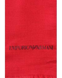 Emporio Armani - Red Stole - Lyst