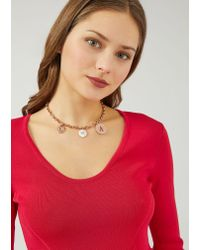 Emporio Armani - Pink Necklace - Lyst