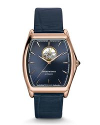Emporio Armani - Blue Swiss Made Watches for Men - Lyst