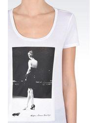 Emporio Armani - White Short-sleeve T-shirt - Lyst