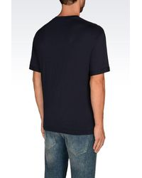 Emporio Armani - Blue Short-sleeve T-shirt for Men - Lyst