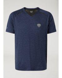 Emporio Armani - Blue T-shirt for Men - Lyst