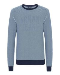 Armani Jeans | Blue Crewneck Sweater for Men | Lyst