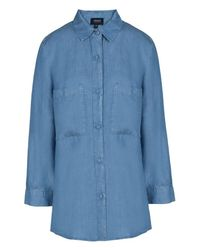 Armani Jeans - Blue Long Sleeve Shirt - Lyst
