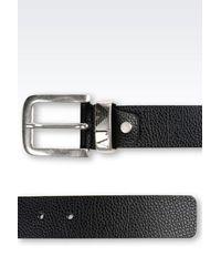 Armani Jeans - Black Leather Belt for Men - Lyst