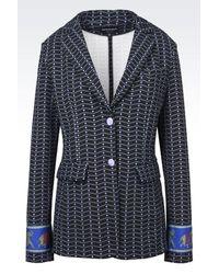 Emporio Armani | Blue Jacket | Lyst