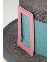 Emporio Armani - Gray Fedora Hat - Lyst