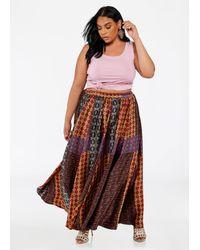 81cb0e499 Ashley Stewart. Women's Plus Size Boho Patch Print Maxi Skirt