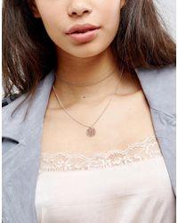 ASOS - Multicolor Fine Multirow Filigree Charm Choker Necklace - Lyst