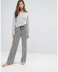 Calvin Klein | Gray Pj In A Bag Long Sleeve Sleep Set | Lyst